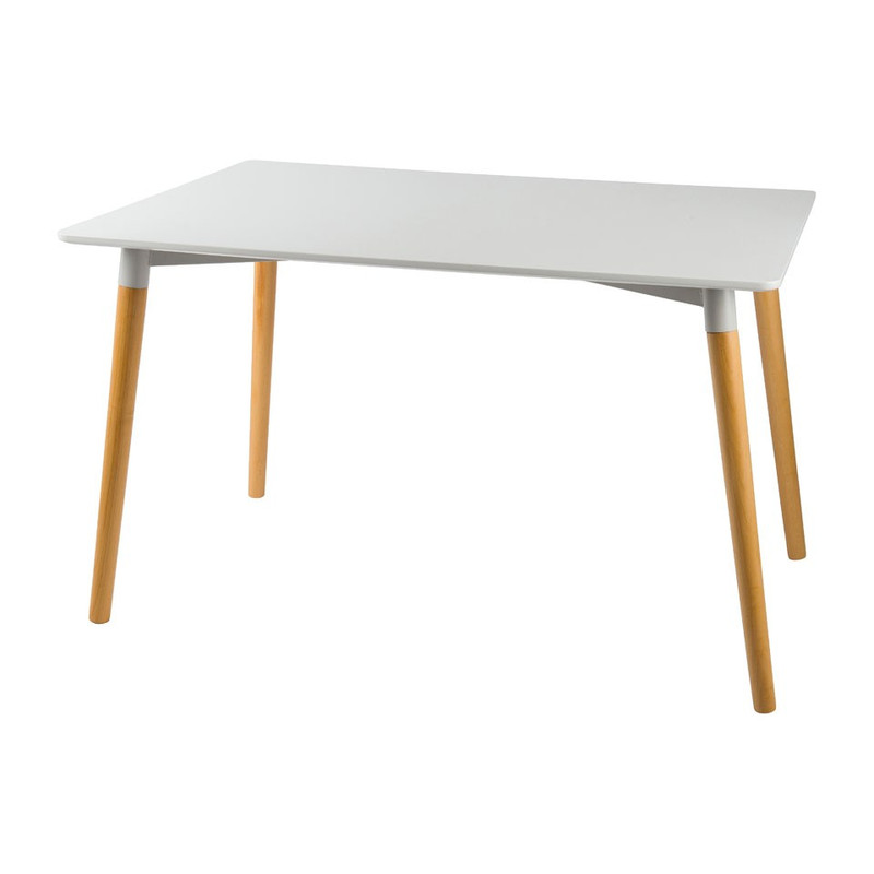 Eetkamertafel Sven - wit - 80x120x75 cm