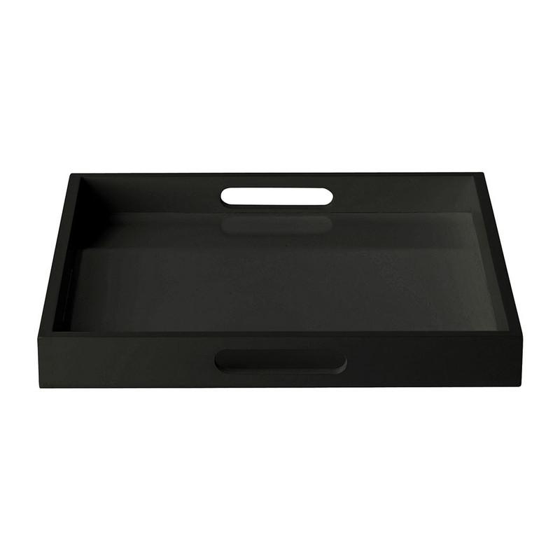 Dienblad vierkant zwart