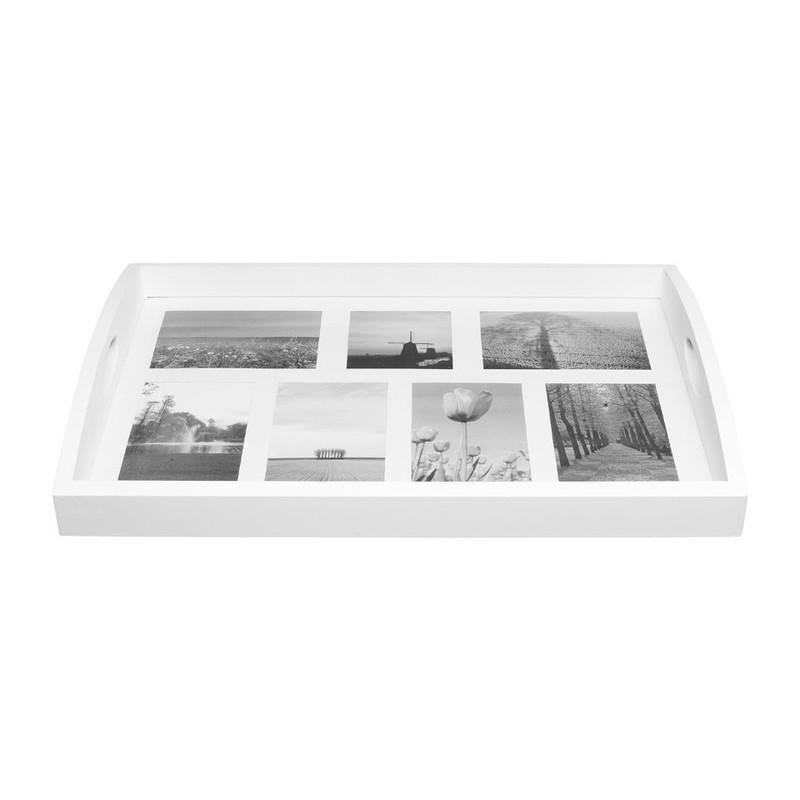 Dienblad voor foto's XXL wit