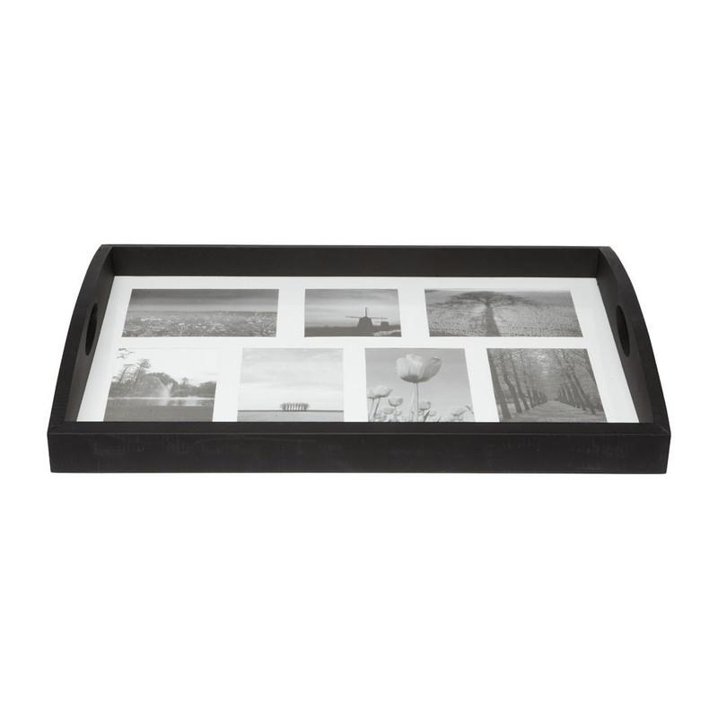 Dienblad voor foto's XXL zwart