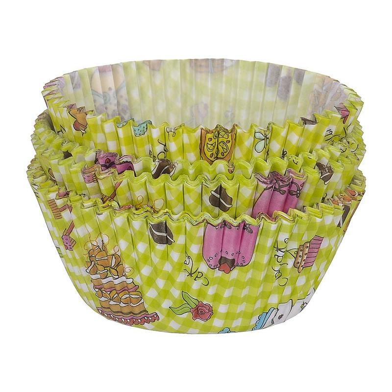 Cupcakevormpjes taart groen 100 stuks