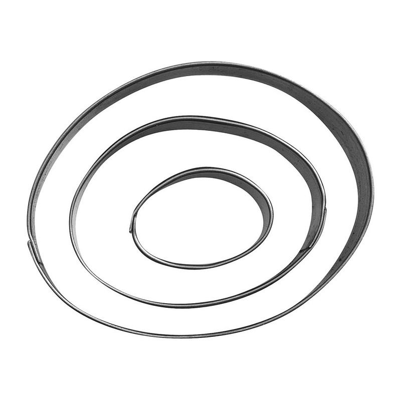 Uitsteekvormpjes RVS ovaal set van 3