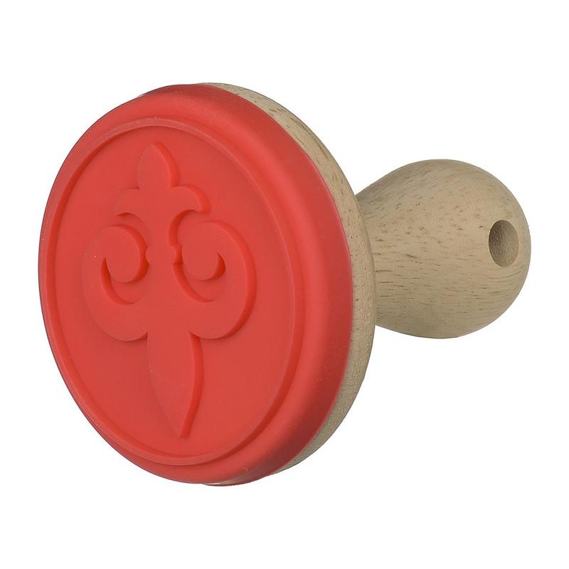 Koekjesstempel Franse lelie - 8 cm - rood