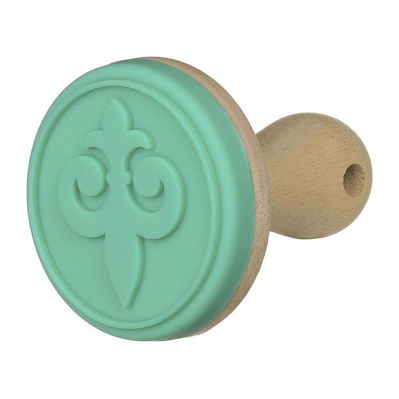 Koekjesstempel Franse lelie - 8 cm - turquoise