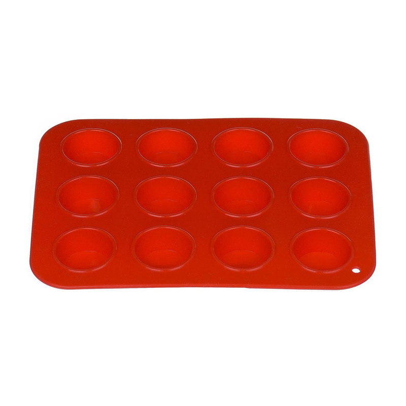 Mini cupcakevorm siliconen rood