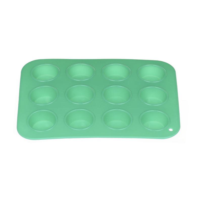 Mini cupcakevorm siliconen turquoise