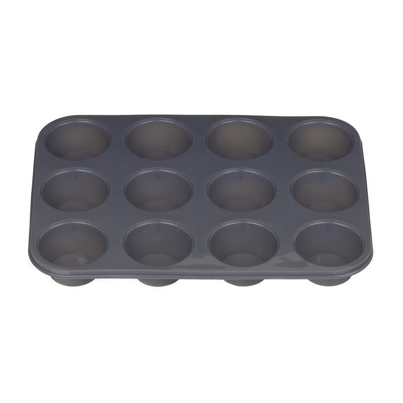 Cupcakevorm groot rond grijs