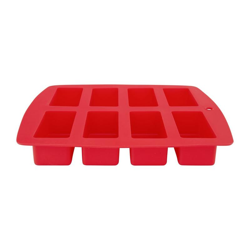 Bakvorm cakejes 8 stuks rood