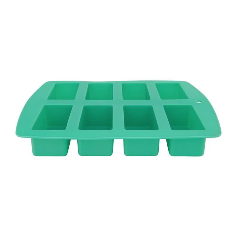 Bakvorm cakejes 8 stuks turquoise