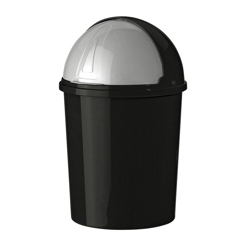 Mini afvalton bullit 6 liter zwart