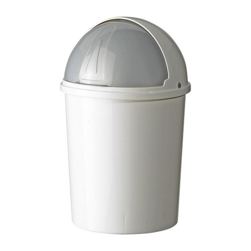 Mini afvalton bullit 6 liter wit