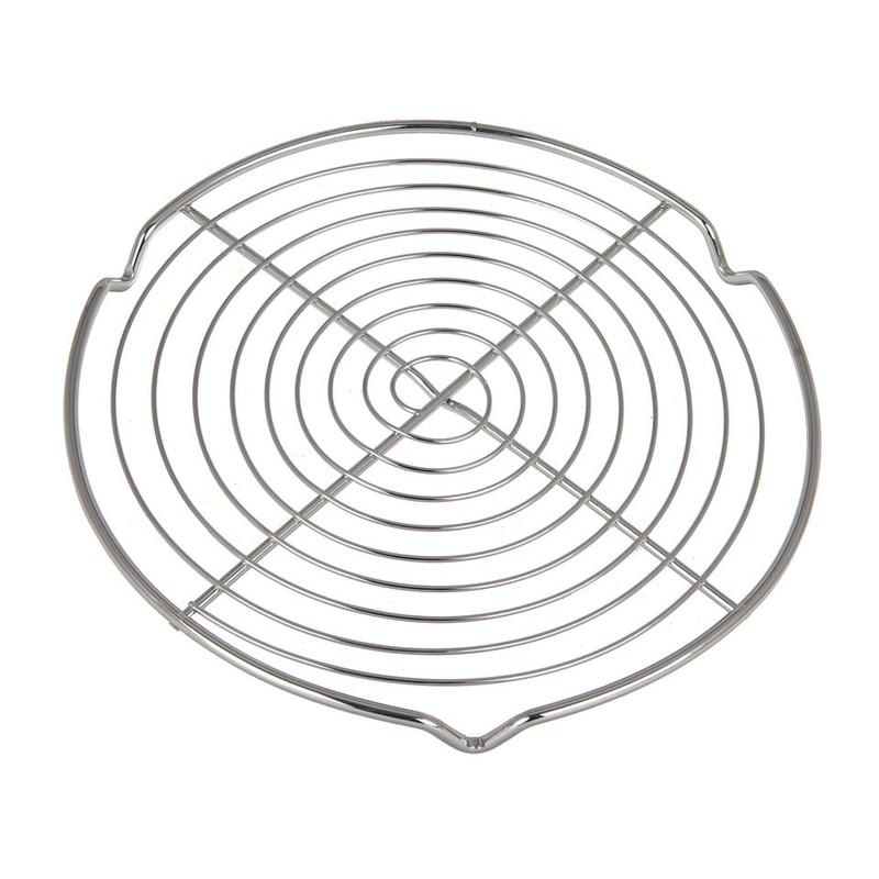 Onderzetter rond RVS zilver 20 cm