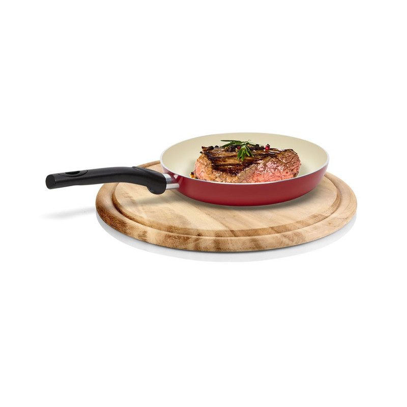 Koekenpan 24 cm rood