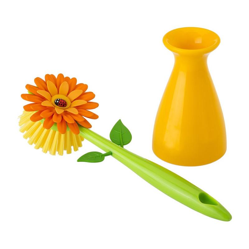 Vigar afwasborstel flower power