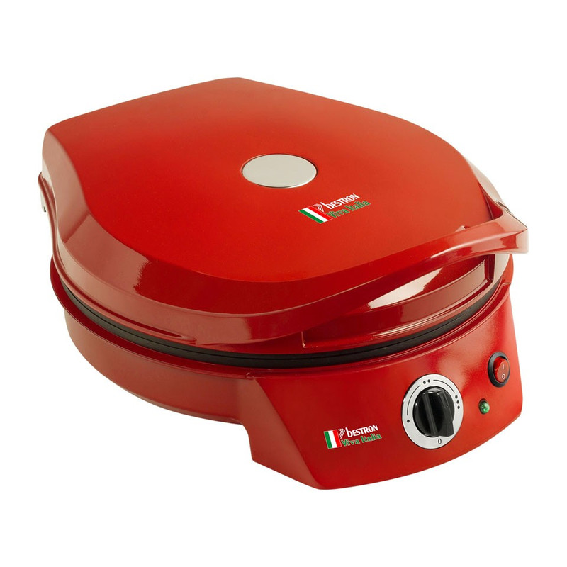 Bestron Pizza maker - 1800W - rood