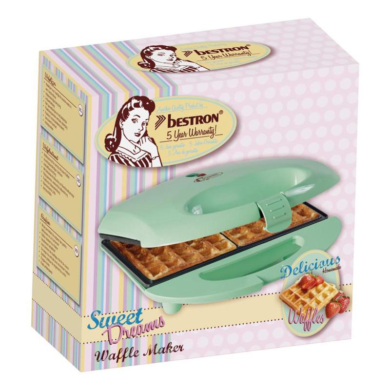 Bestron Wafelijzer - Voor twee Brusselse wafels - 700W - pistache