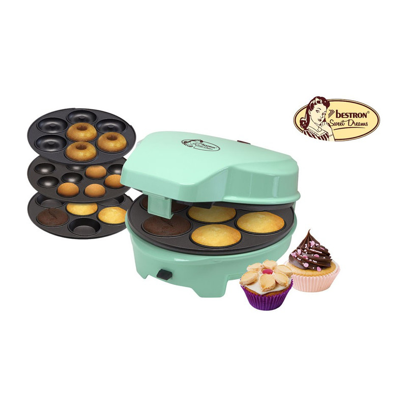 Bestron 3-in-1 Cake maker - 700W - mint