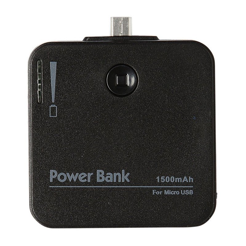 Mobiele oplader voor micro USB zwart