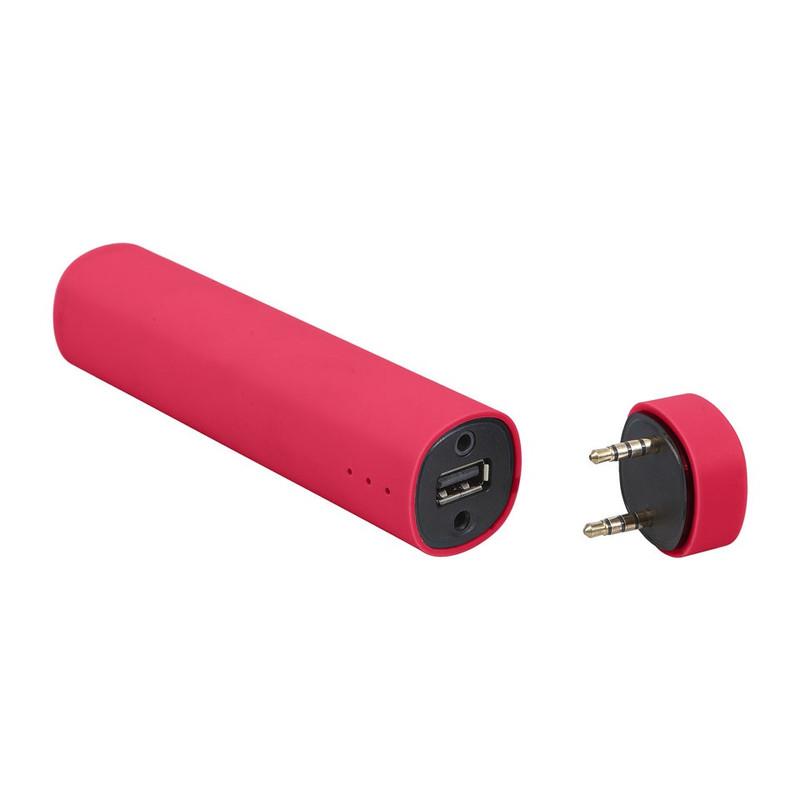 Mobiele oplader en speaker 3 in 1 Roze