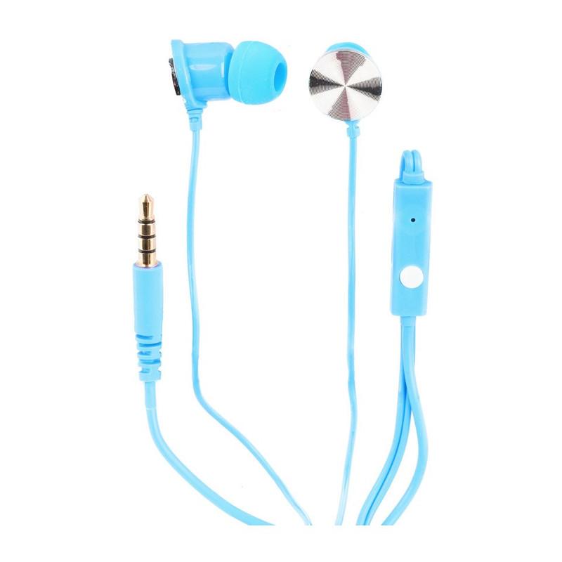 Oortelefoontjes met microfoon blauw