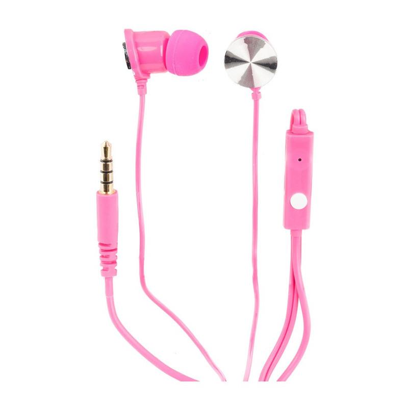 Oortelefoontjes met microfoon roze