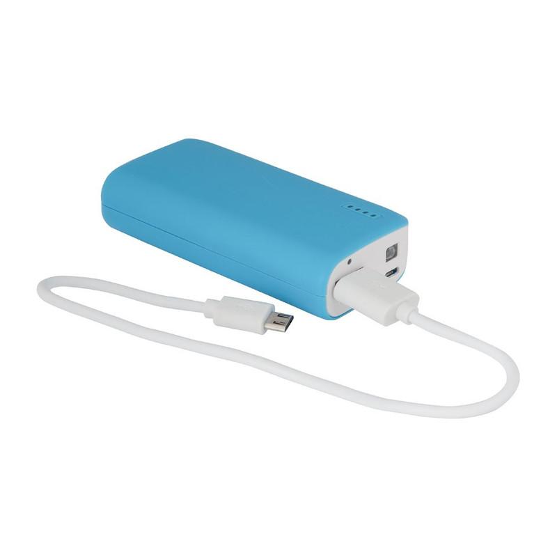 Mobiele oplader universeel blauw