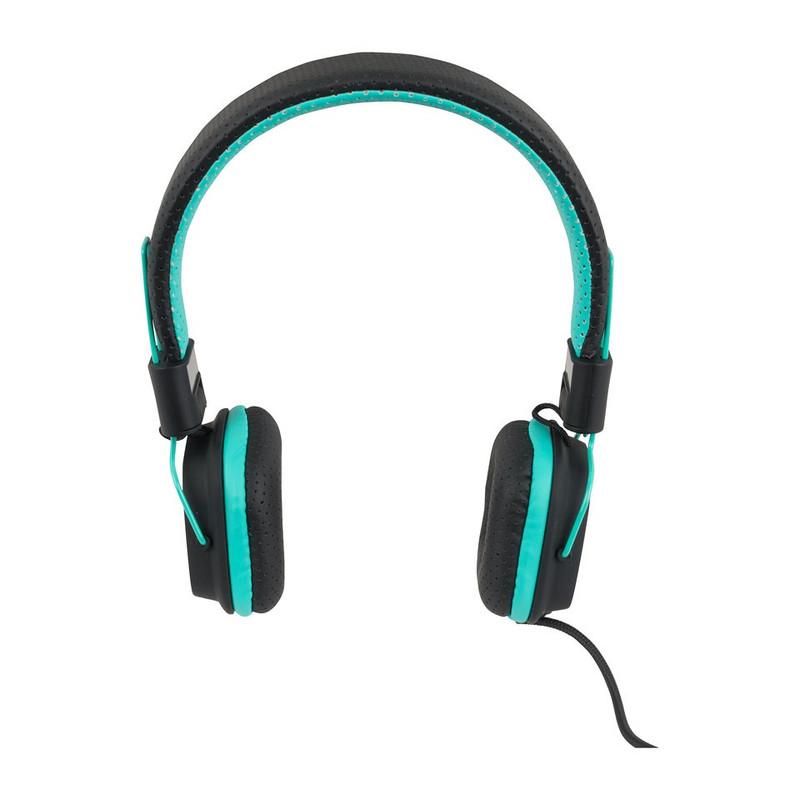 Koptelefoon duo tone turquoise