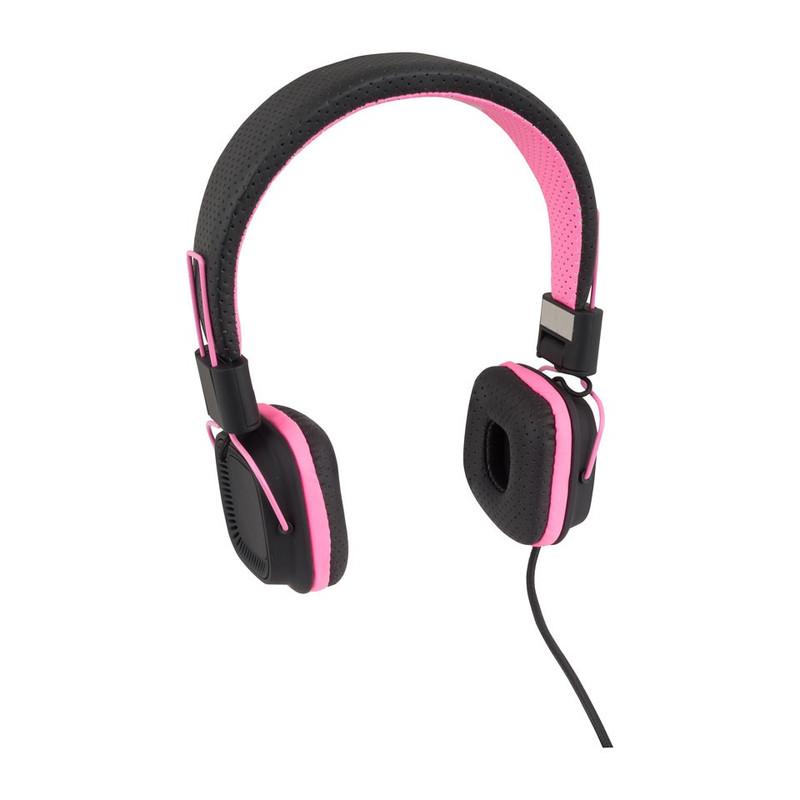 Koptelefoon duo tone roze