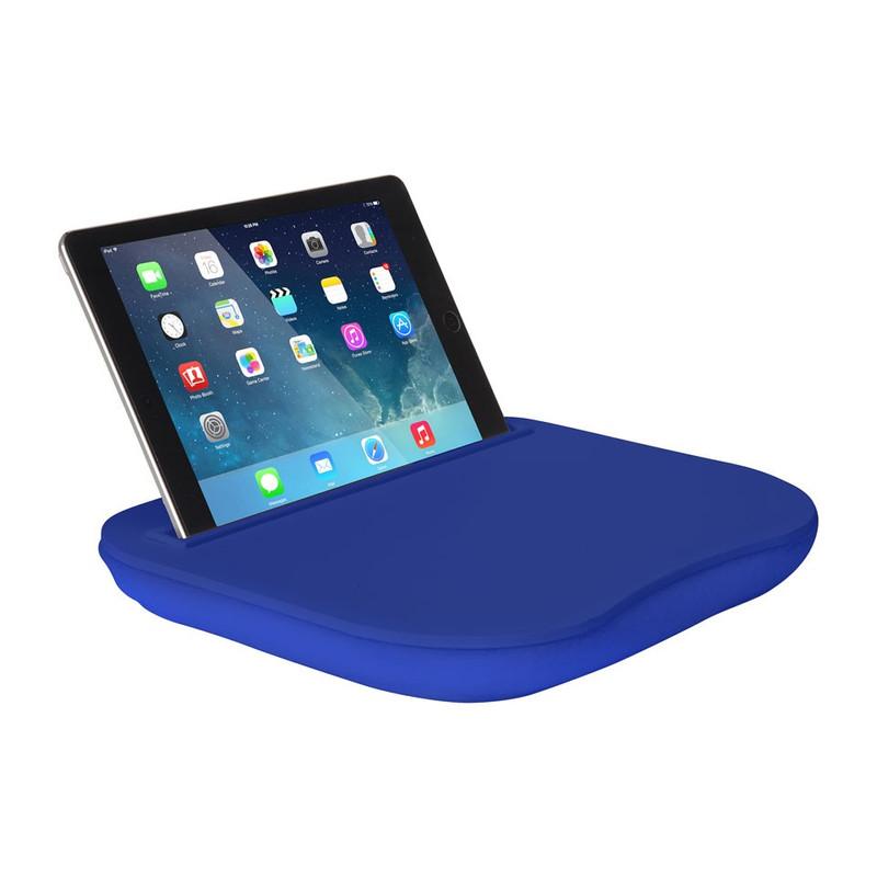 Schoottafeltje voor tablet blauw
