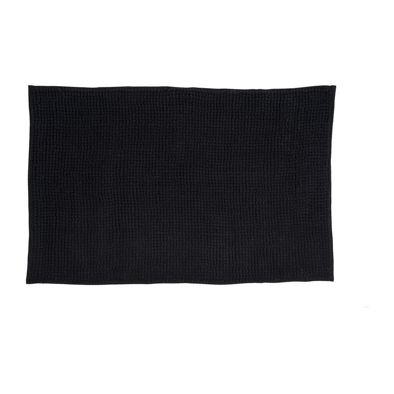 Badmat shaggy zwart