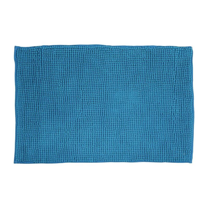 Badmat shaggy blauw