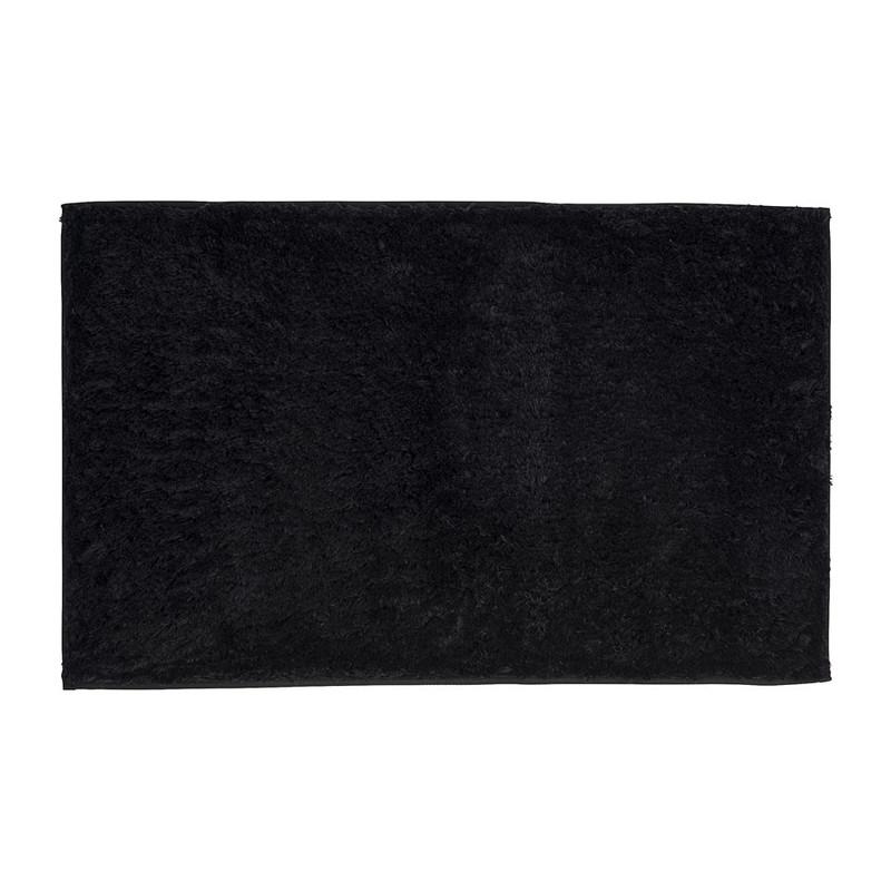 Badmat fluffy zwart
