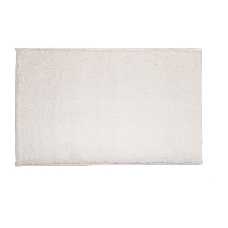 Badmat fluffy - 50x80 cm - wit