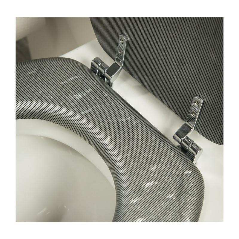 Tiger toiletzitting grey glitter - MDF - grijs