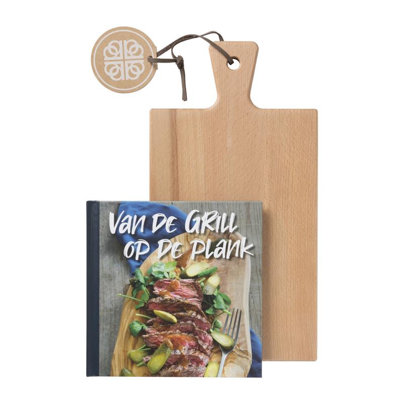 Serveerplank met kookboek - van de gril op de plank