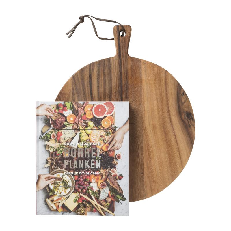 Serveerplank met kookboek - borrelplanken