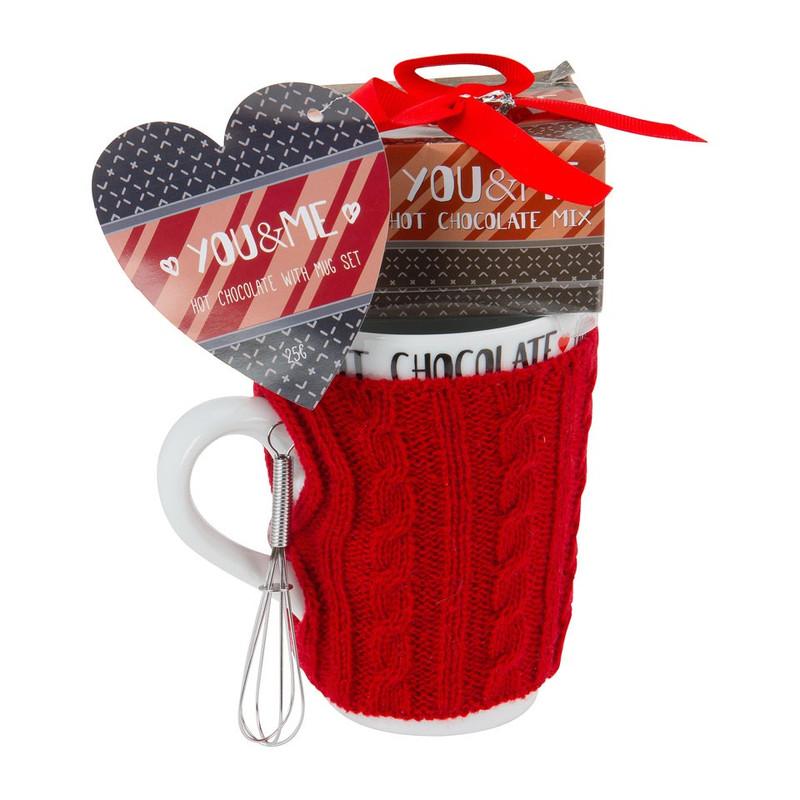 Valentijn mok met hot chocolate
