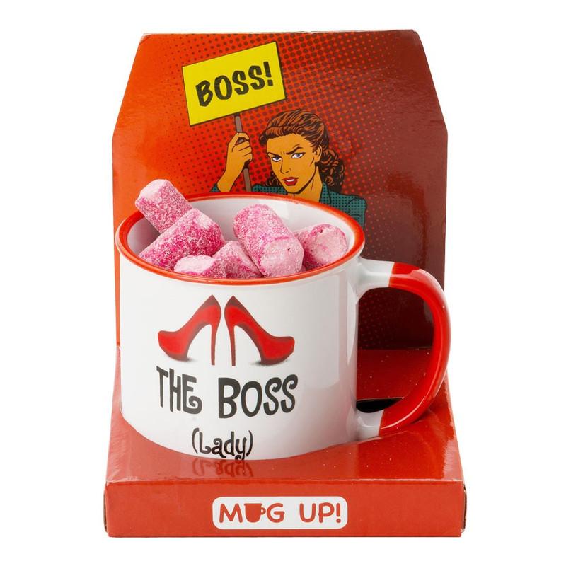 Mok met snoepjes - lady boss - kersensmaak