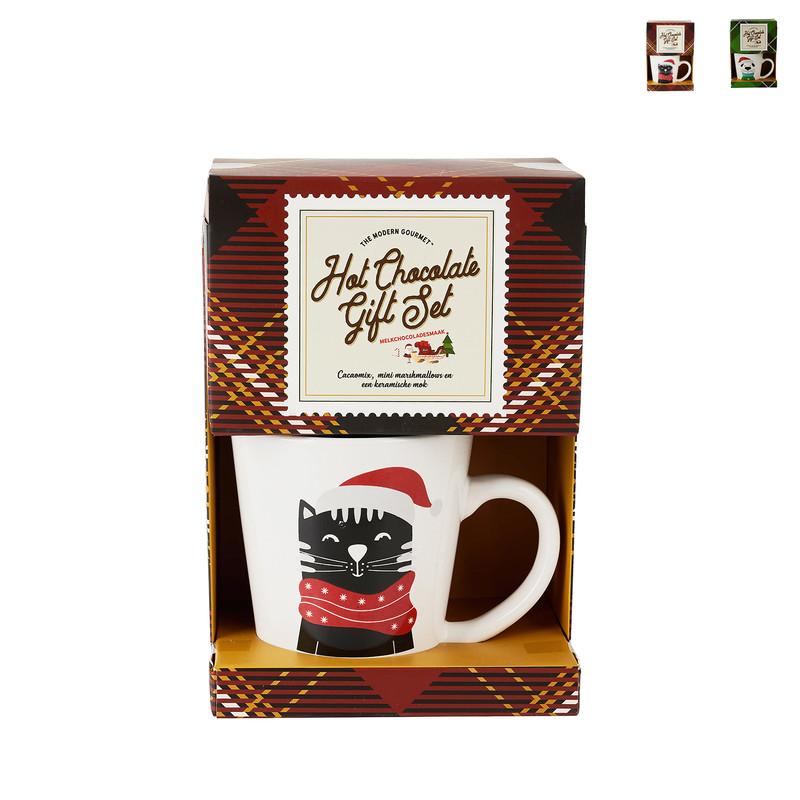 Mok giftset - hond/kat - hot chocolate