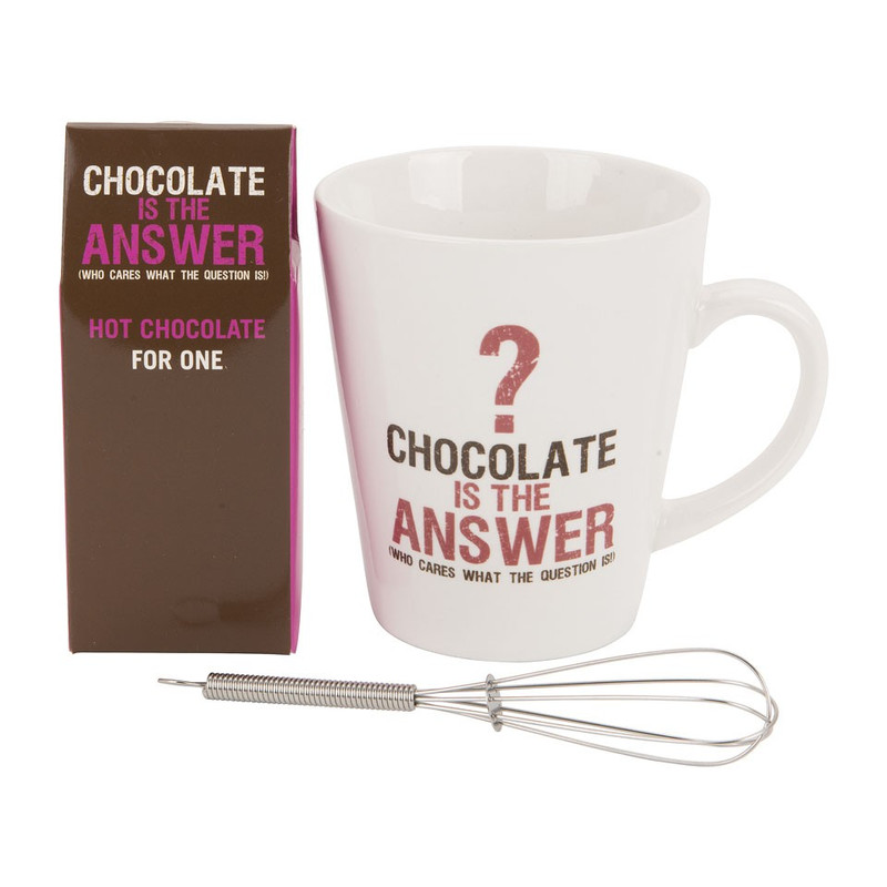 Giftset mok - chocolate is the answer
