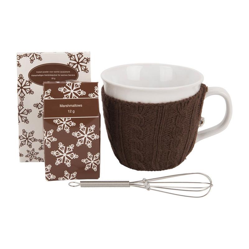 Mok met sweater – chocolademelk – bruin