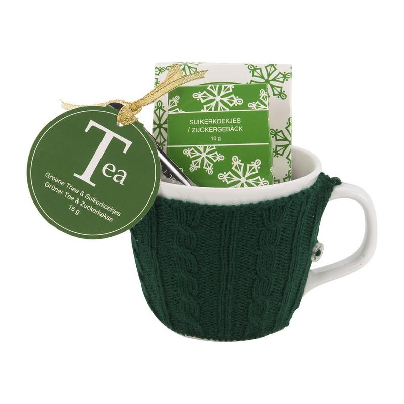 Mok met sweater – thee - groen