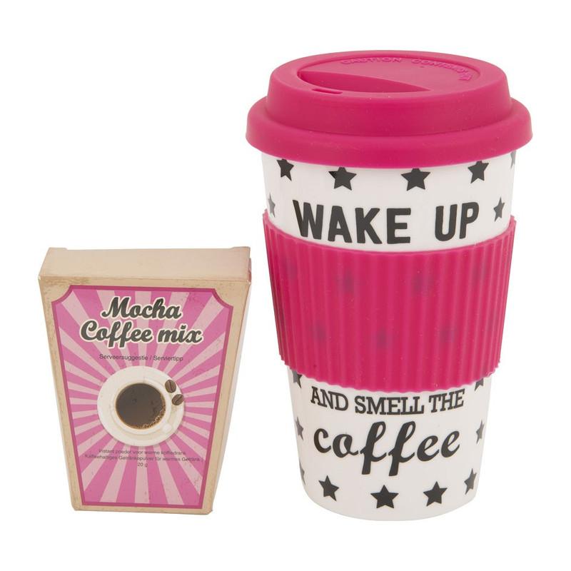Travel mug koffie - roze
