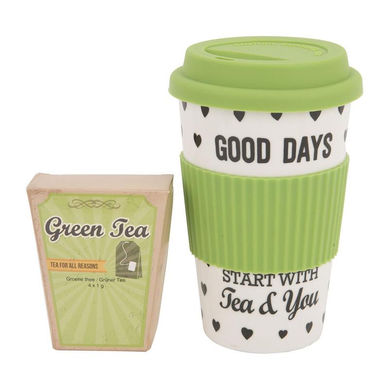 Travel mug thee - groen