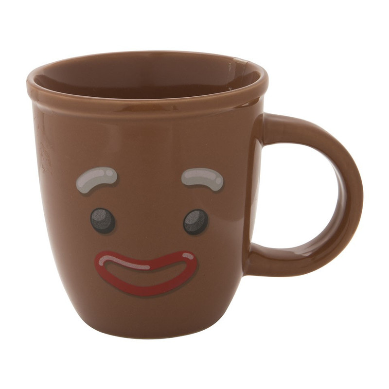 Beker met mutsje - 30 cl - gingerbread man