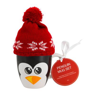 Beker met mutsje - 30 cl - pinguïn