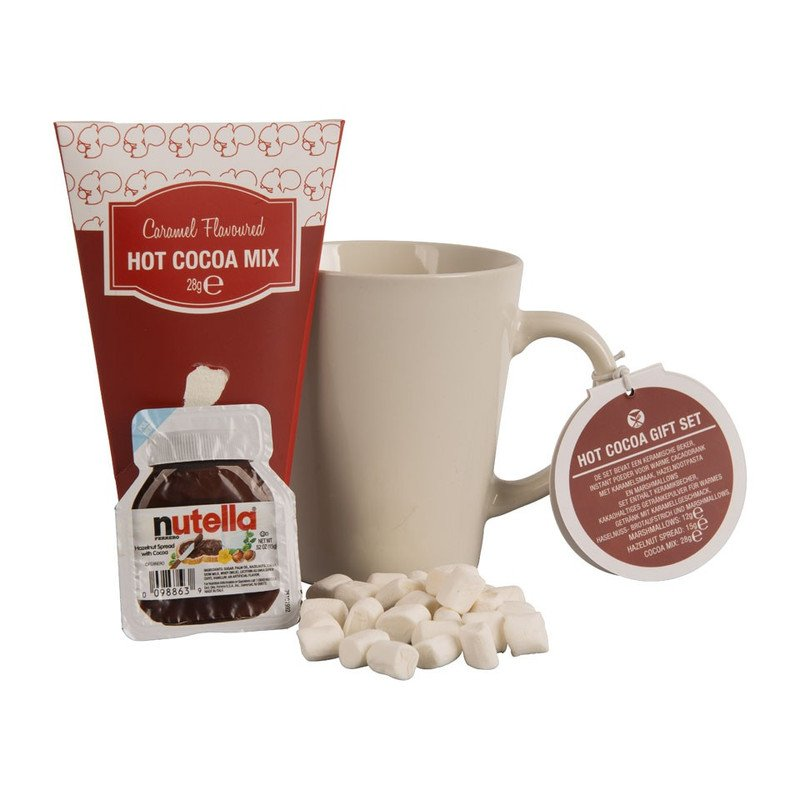Cadeauset warme chocolademelk - witte mok