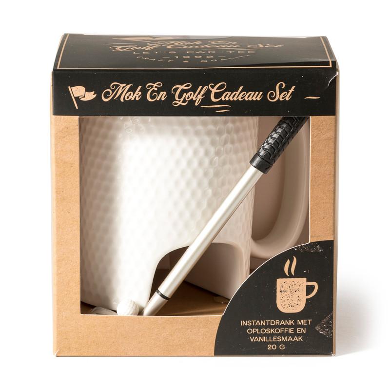 Mok en golf cadeau set - vanillekoffie