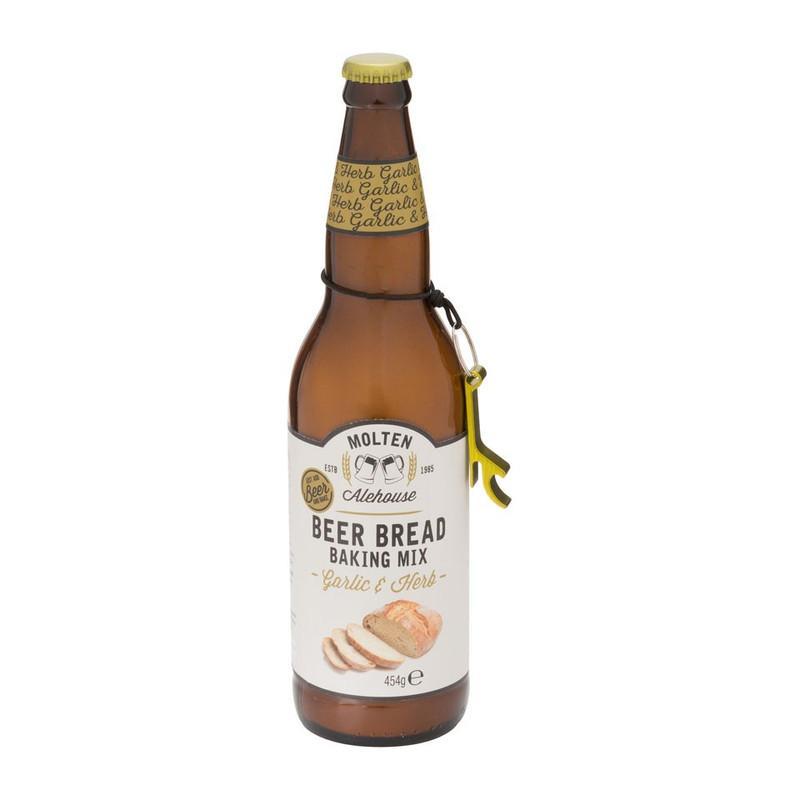 Bierfles met broodmix - Garlic & Herbs