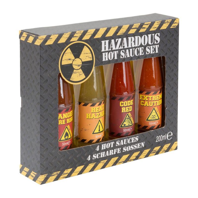 Hazardous hot sauce set